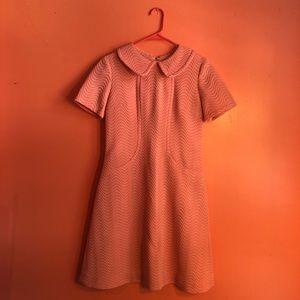 Vintage Mod Dress 1960's style-Bubblegum Pink